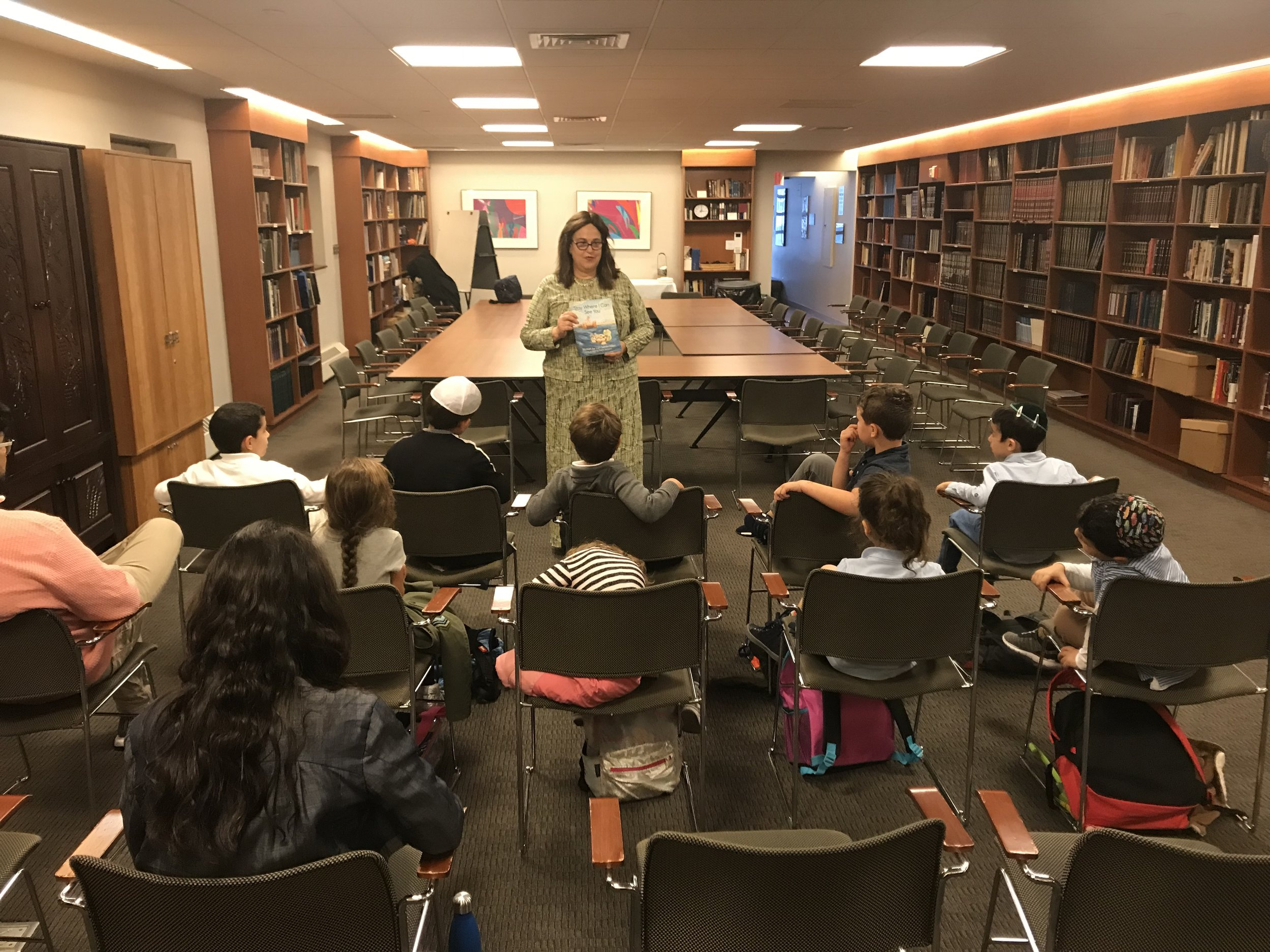 "Sephardic Academy School of Manhattan - Manhattan, New York     I had a wonderful time reading ""Stay Where I Can See You"" at the Sephardic Academy of Manhattan.    The students loved the story and asked great questions about the book and about the writing process."