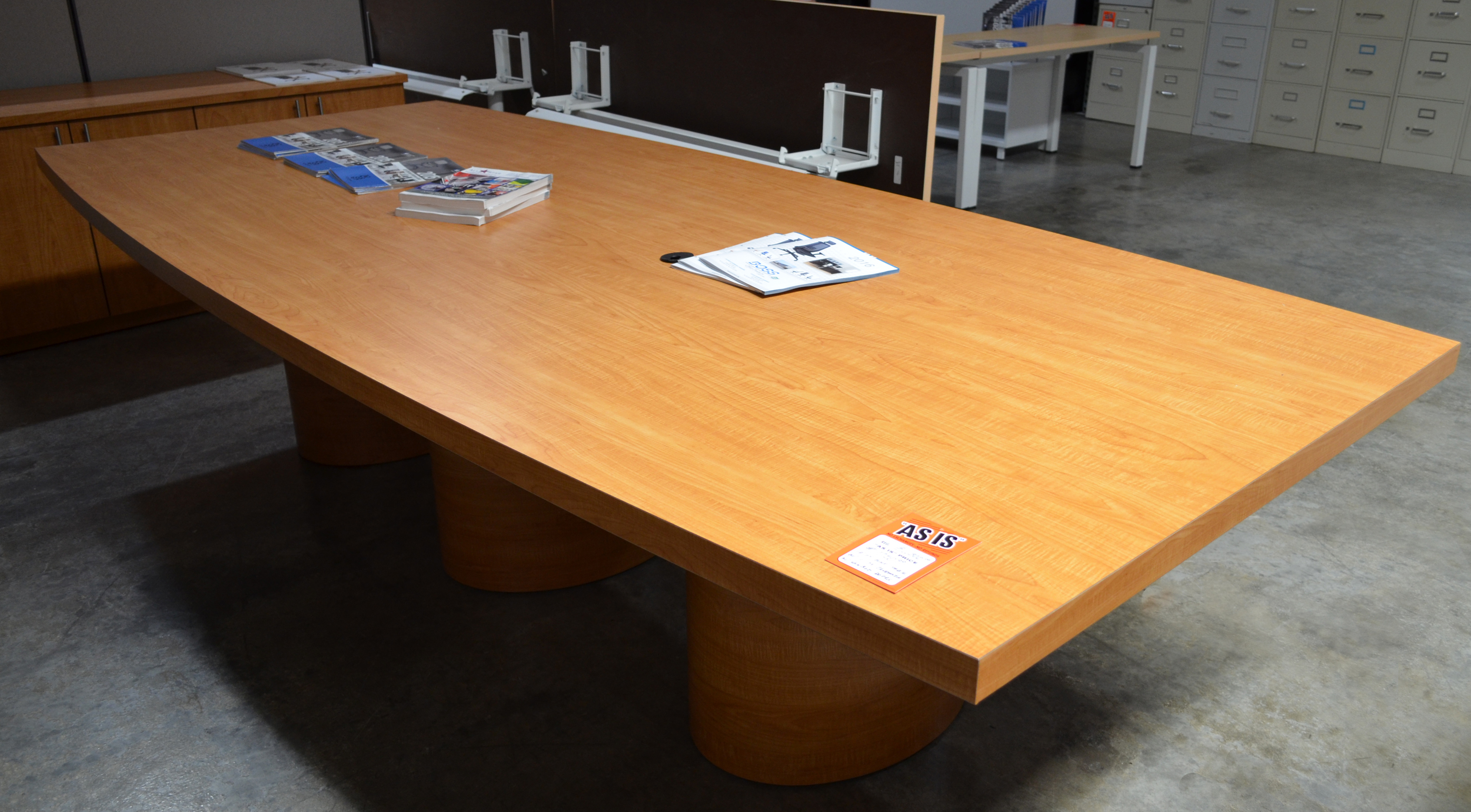Conference table & Credenza pre owned ($750.00)