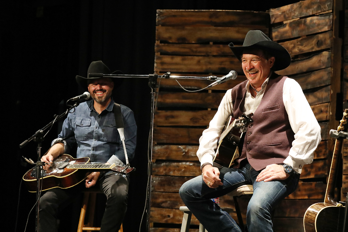 Kix Brooks and Jimmy Stewart entertain the sold-out audience at the Princess Theatre.