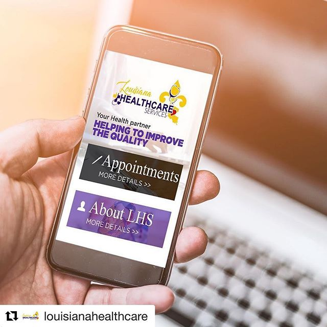 #Repost @louisianahealthcare ・・・ Did you know that Louisiana Healthcare Services offers online appointment scheduling from the palm of your hand?? Log on to www.louisianahealthcareservices.com NOW to schedule your appointment 💻📱