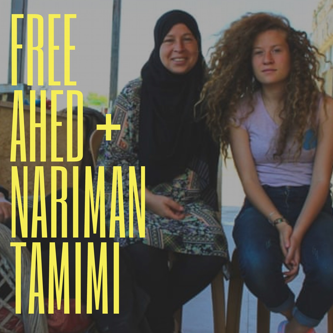 Demanding an end to child detention: Free Ahed Tamimi and