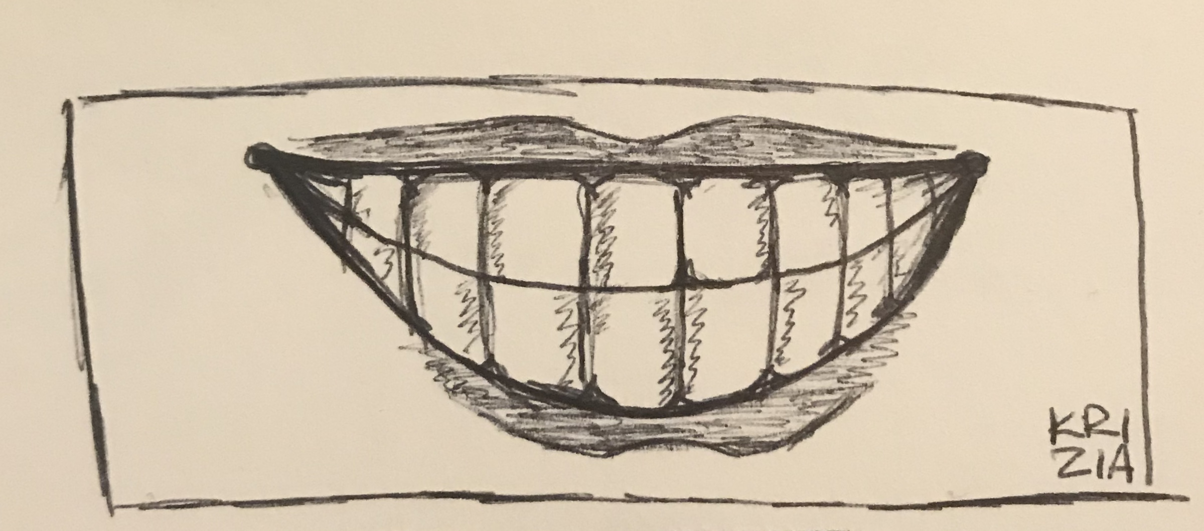 titled,  Chez . ink on bristol paper.