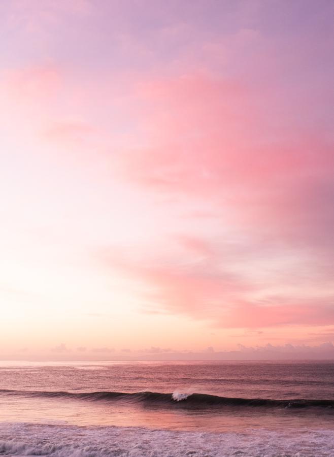beautiful little wave at sunrise in Santa Barbara