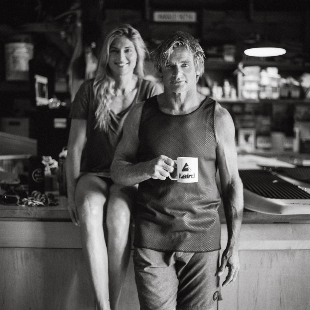 Gabby Reece and Laird Hamilton