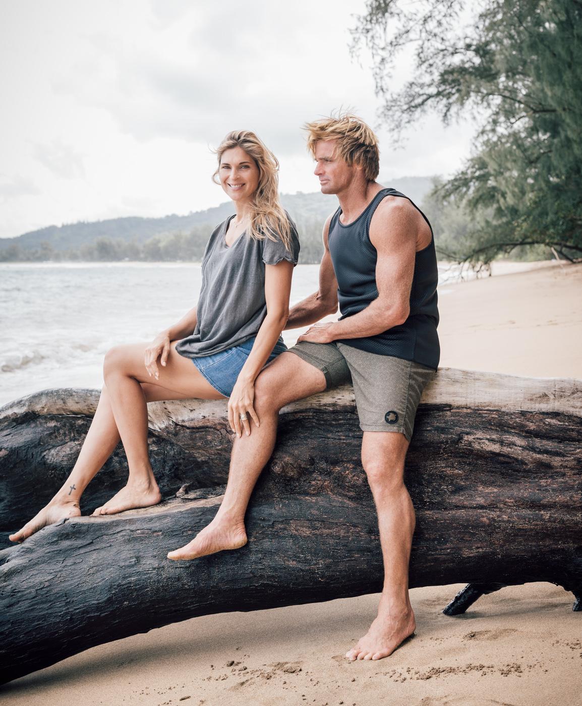 environmental portrait of Gabby Reece and Laird Hamilton