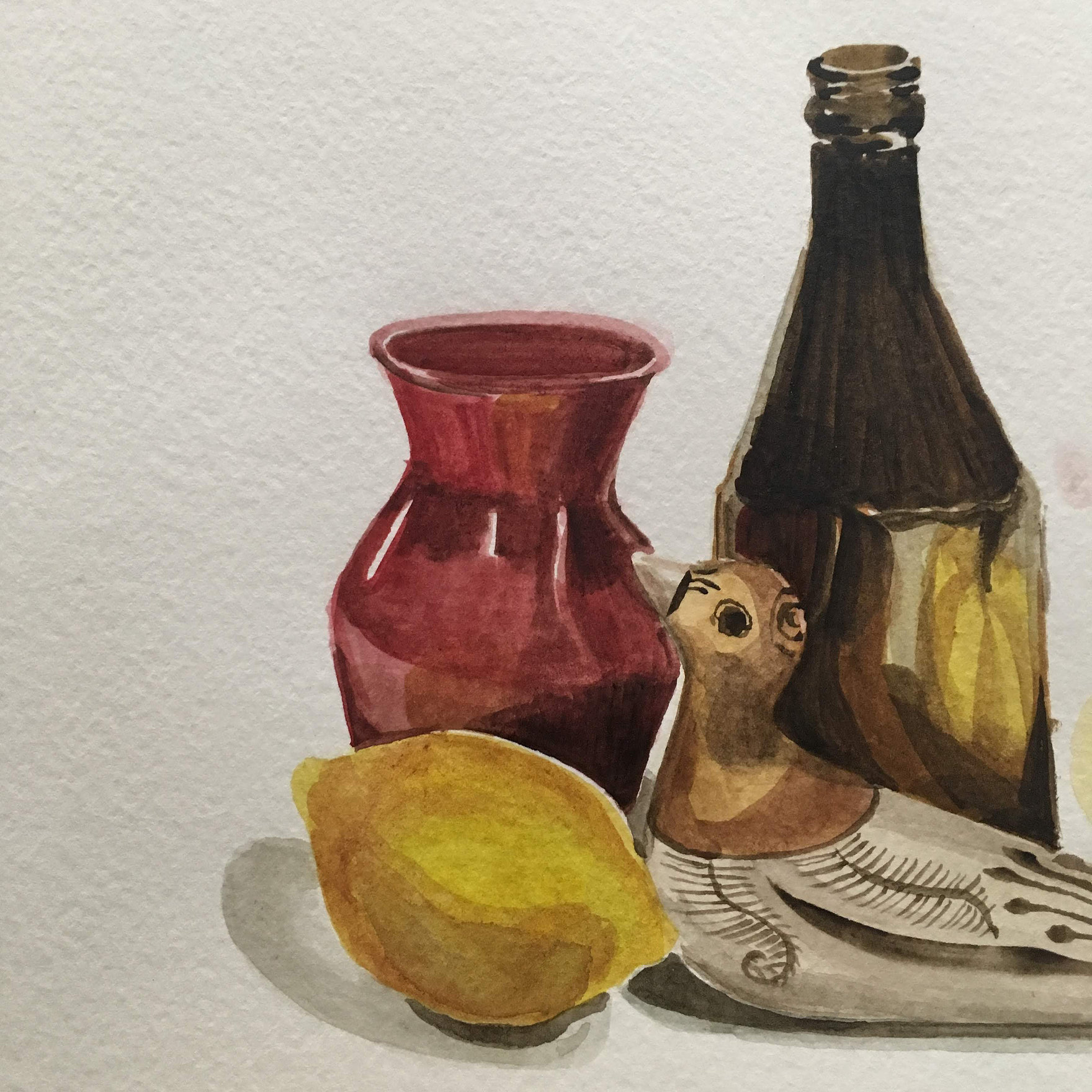 Introduction to Watercolor Still Life, Taught by Roan Victor, Sunday, Dec. 16 (1:30 PM to 3 PM) -