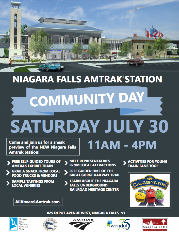 Niagara Falls Amtrak Intermodal Station Community Day Flyer