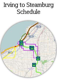 Irving to Steamburg Schedule