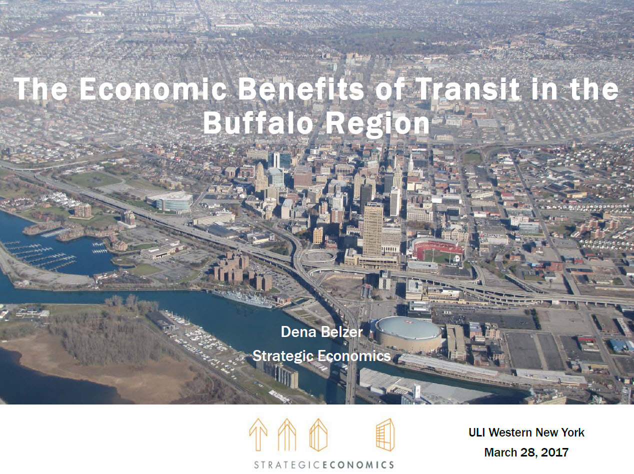 The Economic Benefits of Transit in the Buffalo Region