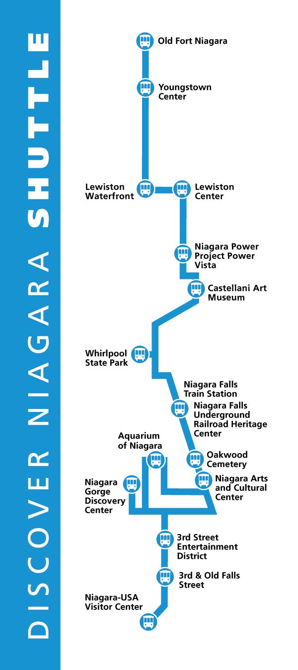Discover Niagara Shuttle Map 2017