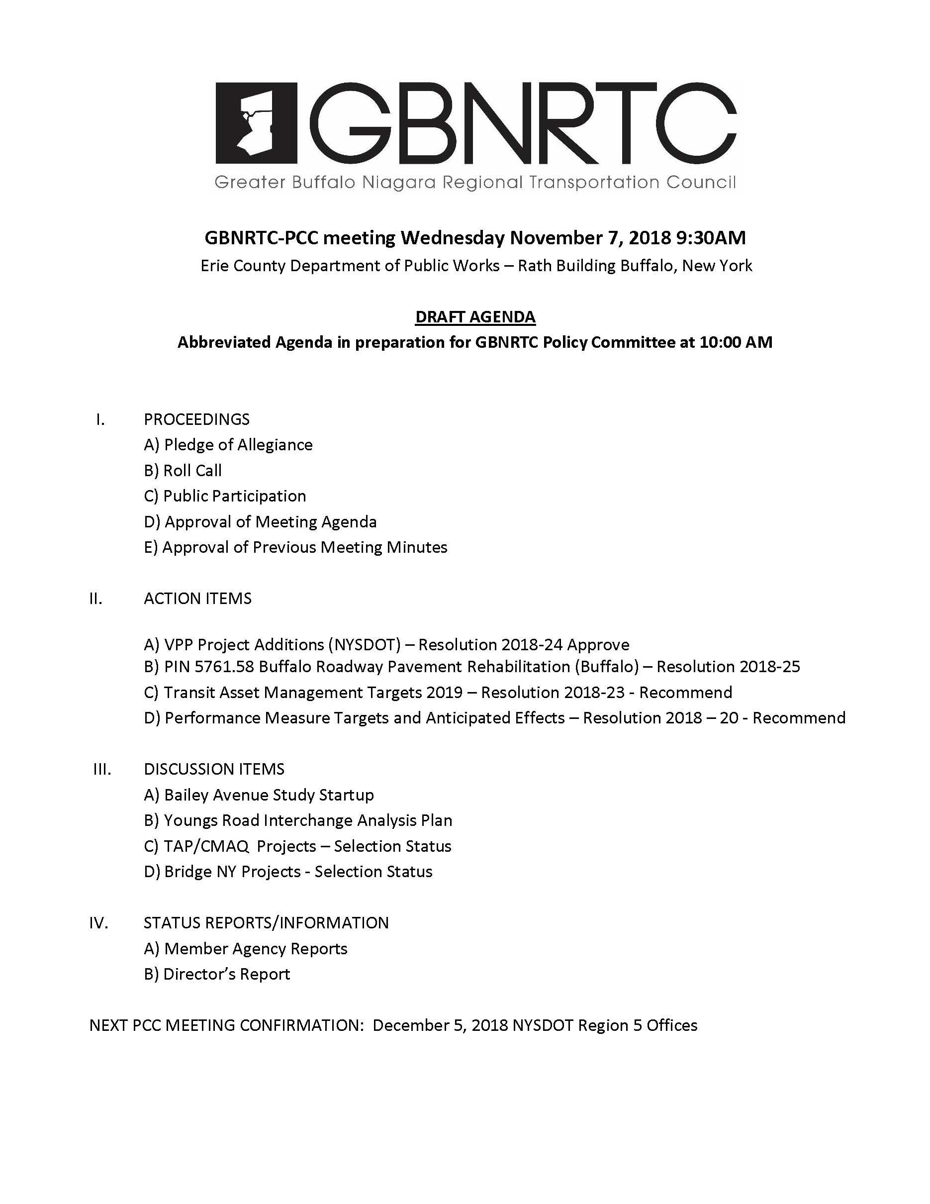 PCC Agenda 11-7-2018