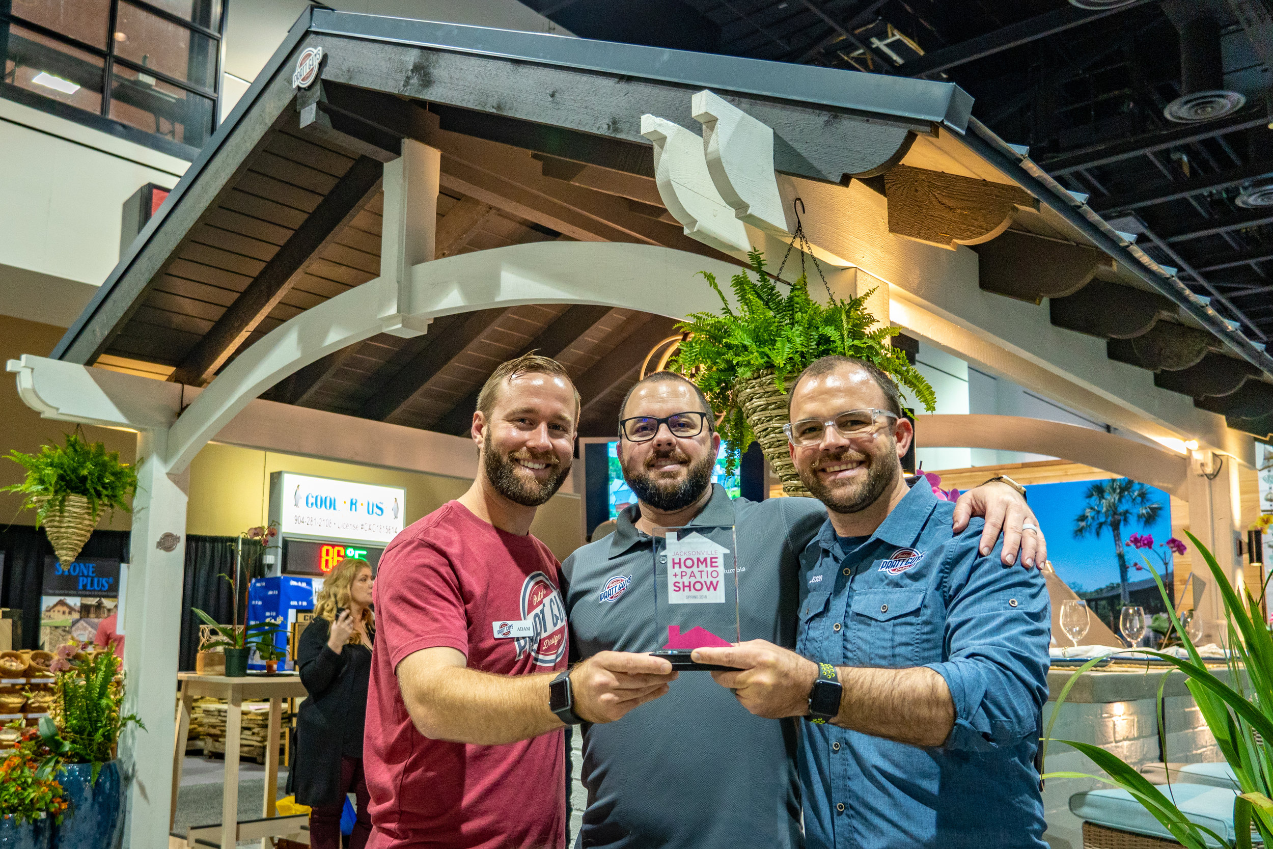 "Brothers Adam, Derek and Jason Pratt - Owners of Pratt Guys with the 2019 ""Best Overall Display"" Award"
