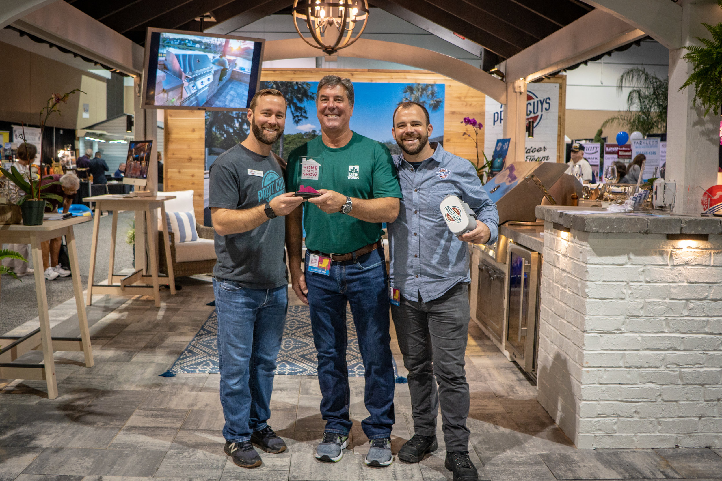 A moment during the 2019 Spring Jacksonville Home + Patio Show aka #HomeAndPrattio Show on 3/1/19 during the 4-day event that took place between February 28 and March 3, 2019. Photo copyright Pratt Guys 2019