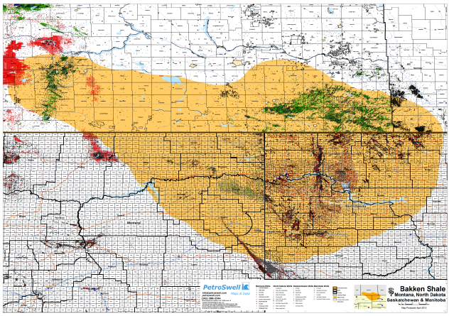 Bakken Shale Map Canada Detailed Map of the Bakken Shale Play