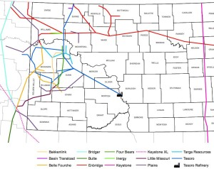 Bakken Pipeline Map