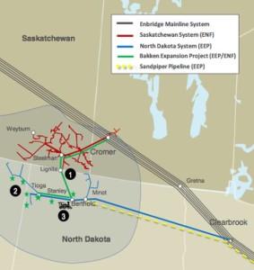 Enbridge Bakken System Map