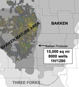 North Dakota Bakken Three Forks Map