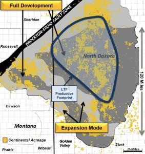 Continental Resources Bakken Three Forks Map