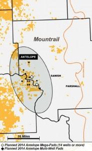 Continental Resources Bakken - Antelope Area Map