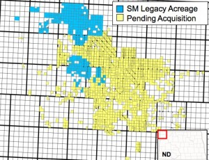 SM Energy Bakken Map