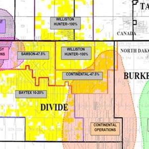 Magnum Hunter Resources' Bakken Acreage Map