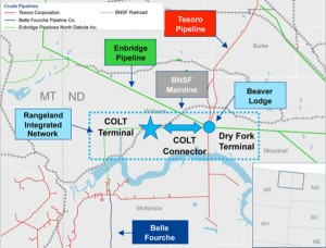 Inergy Midstream COLT Terminal Map