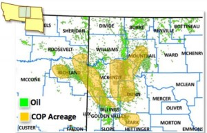 ConocoPhillips Bakken Acreage Map