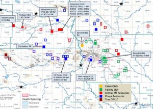 Heath Shale Well Map