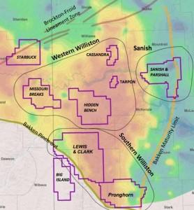 Whiting Bakken Map