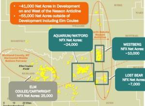 Newfield Bakken Acreage Map