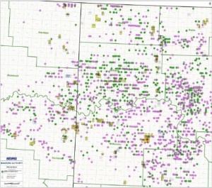 Abraxas Petroleum Bakken Acreage Map