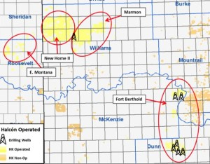 Halcon Resources Bakken Acreage Map