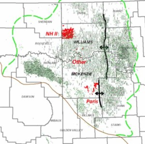 Resolute Energy Bakken Acreage Map