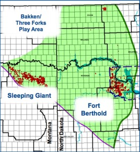 Enerplus Bakken Map