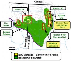 EOG Resources Bakken Map
