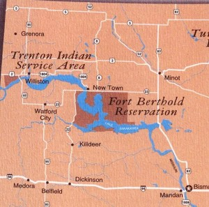 Western ND Tribal Lands Map