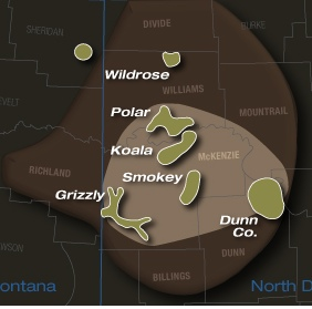 Kodiak Bakken Acreage Map
