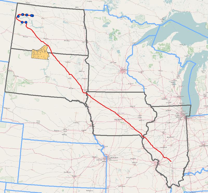 Dakota Access Map