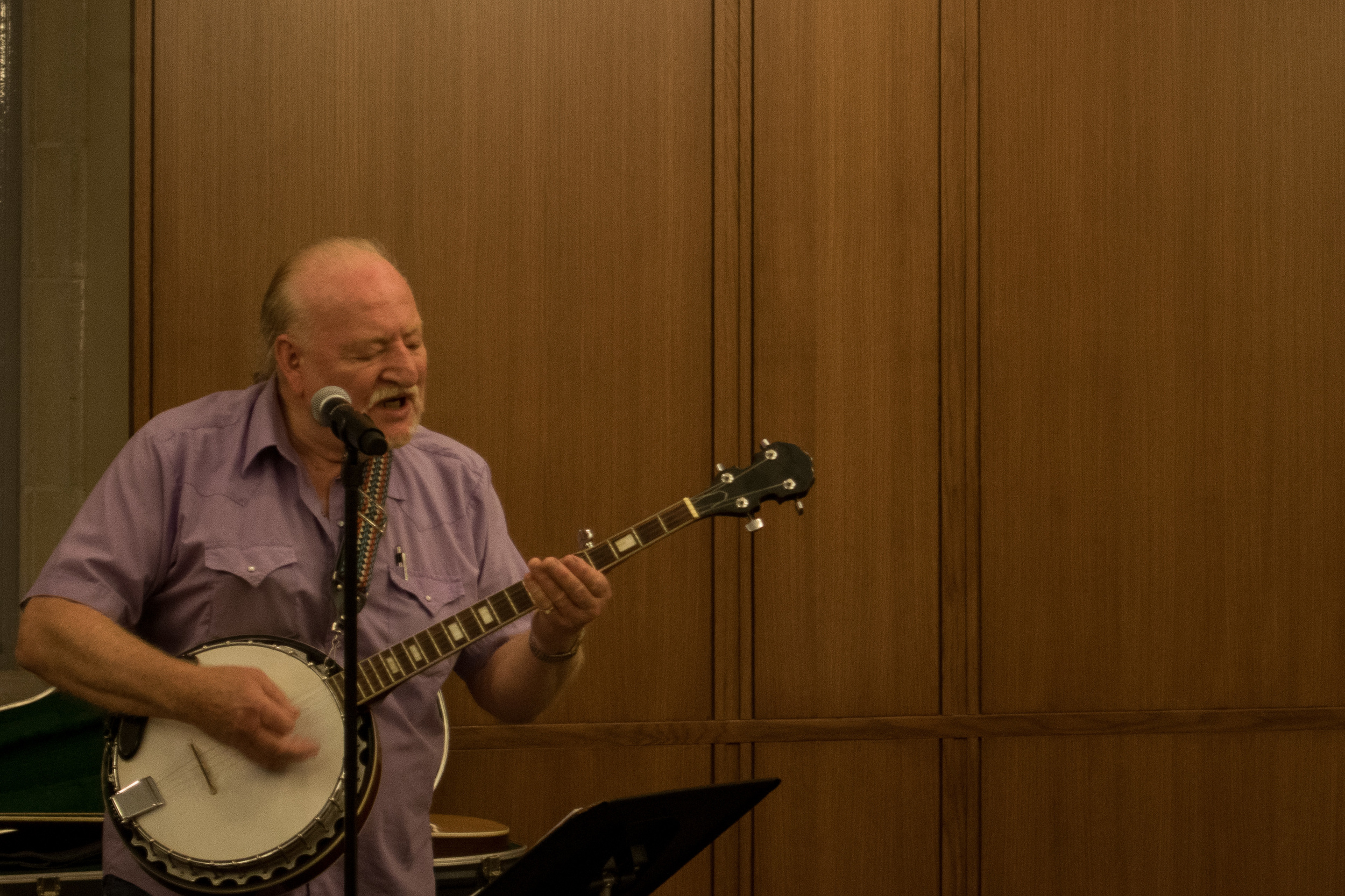 Terry McKinney performing at the Rubenstein Library