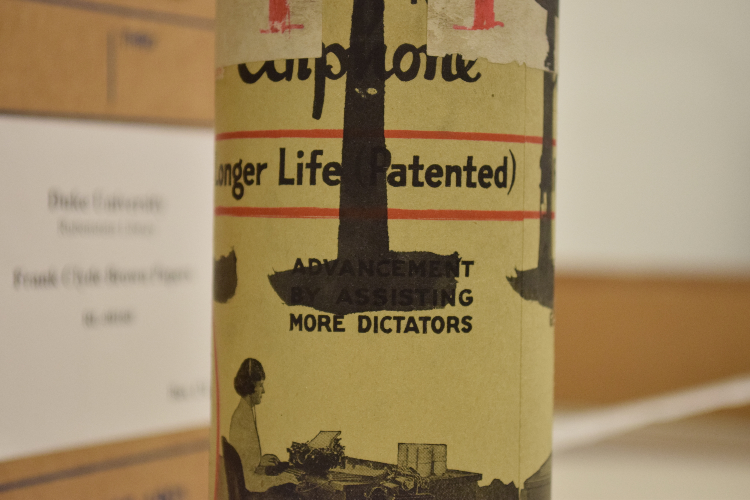 Wax cylinder case in the FCB collection