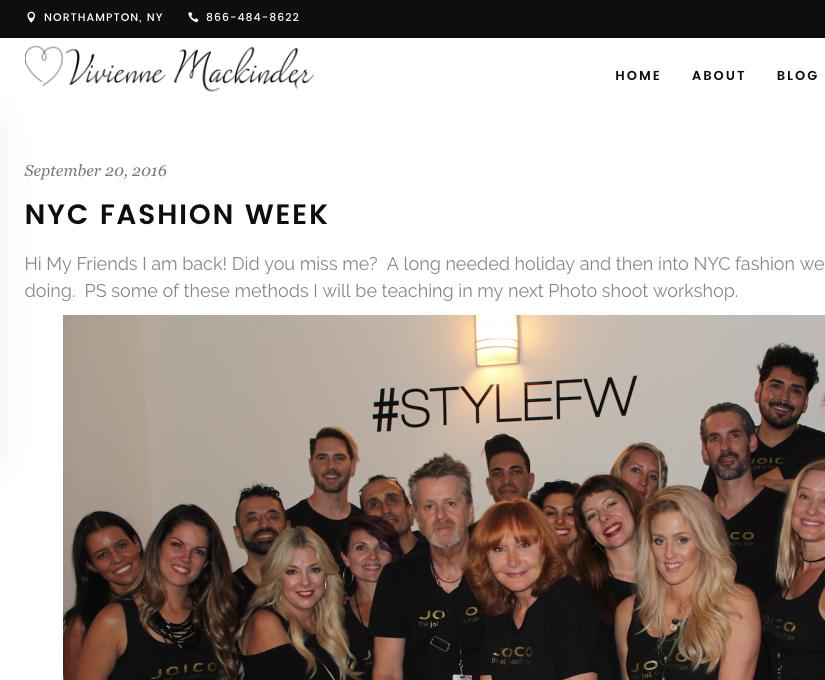NY Fashion Week - Vivenne Mackinder + Joico