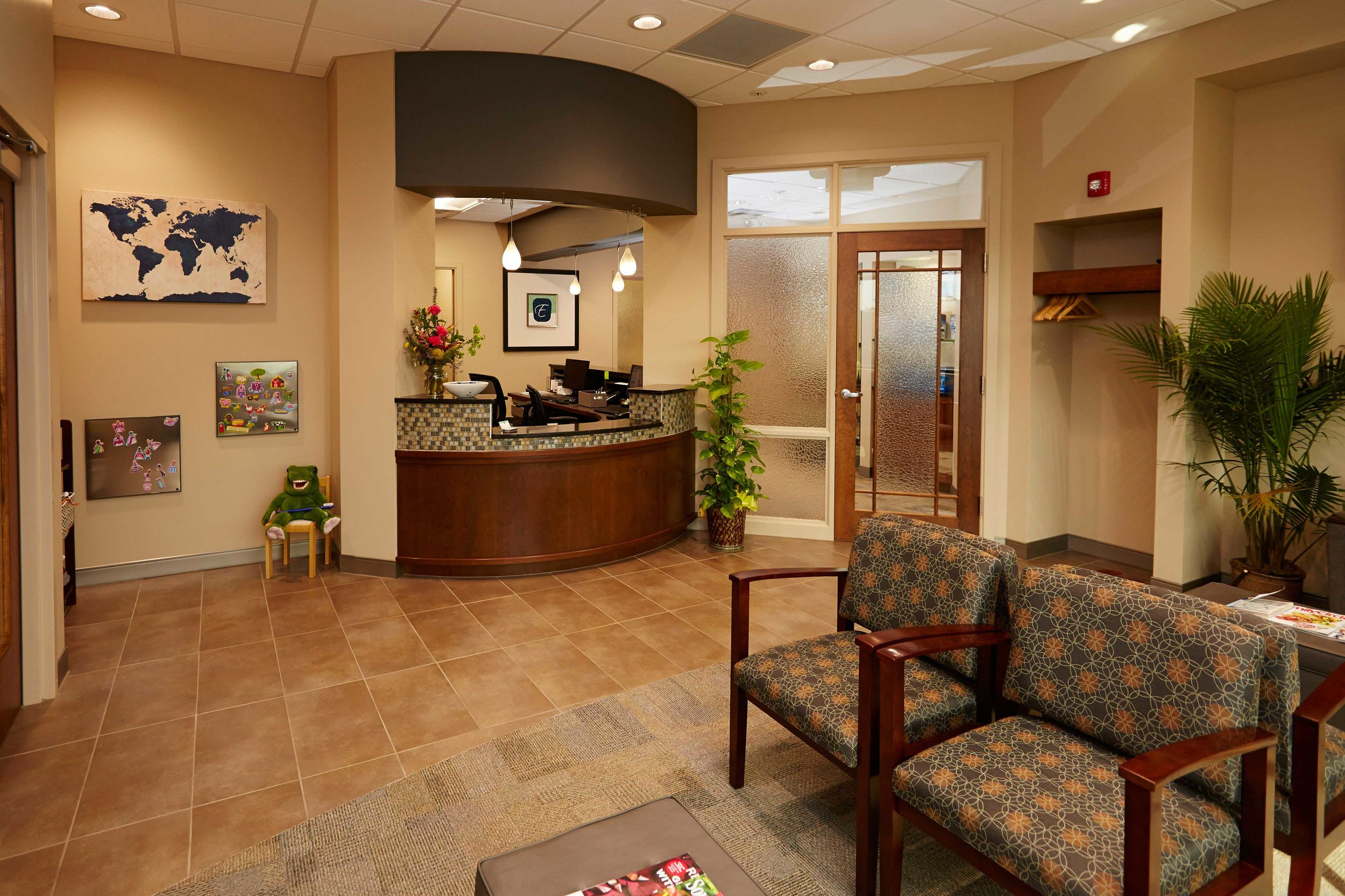 The Award Winning Ellis Dental Waiting Room in St. Louis, Missouri
