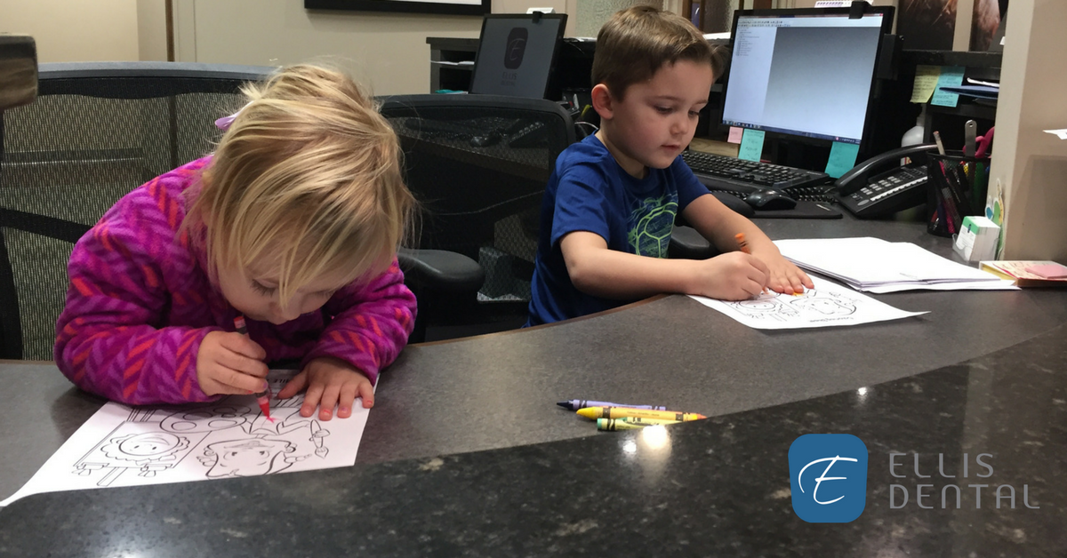 Children's Dental Health Month Coloring Contest at Ellis Dental in St. Louis, MO