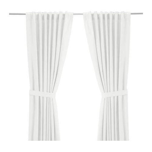 Beautiful Clean White IKEA Curtains