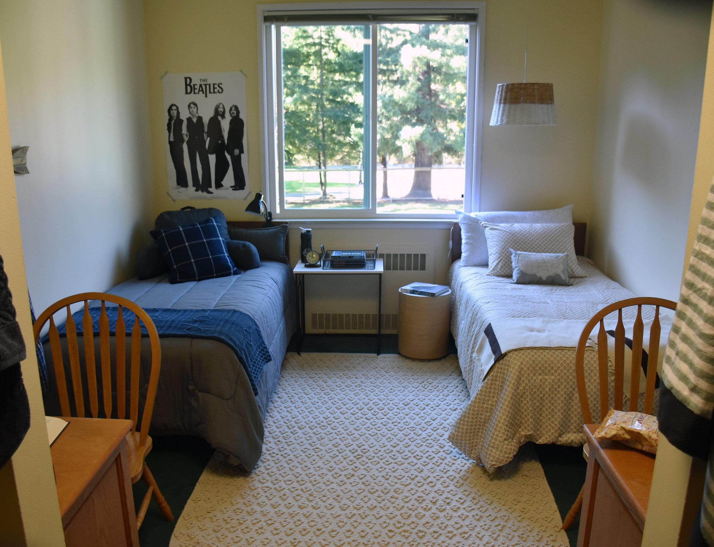 Sample dormitory room at San Domenico.