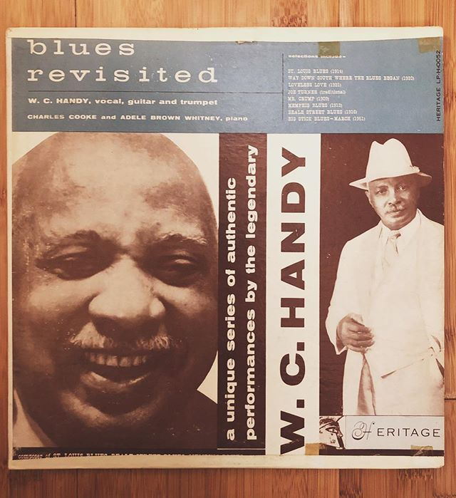 Cool piece of history we found at @georgetown_records 🎺🎙✨ #knowyourroots #memphis #wchandy #blues #latergram #vinyl