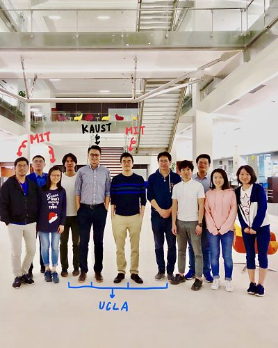 Prof. Jeehwan Kim and the CVD sub-group at KAUST.