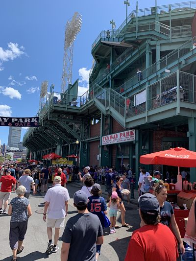 Sunday afternoon at Fenway Park!