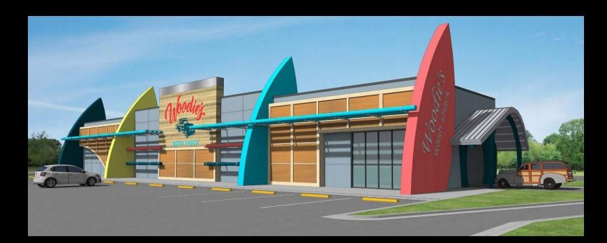 A Florida-based company want to build up to seven Woodie's Wash Shack locations in Memphis (Rendering courtesy of Woodies's Wash Shack)