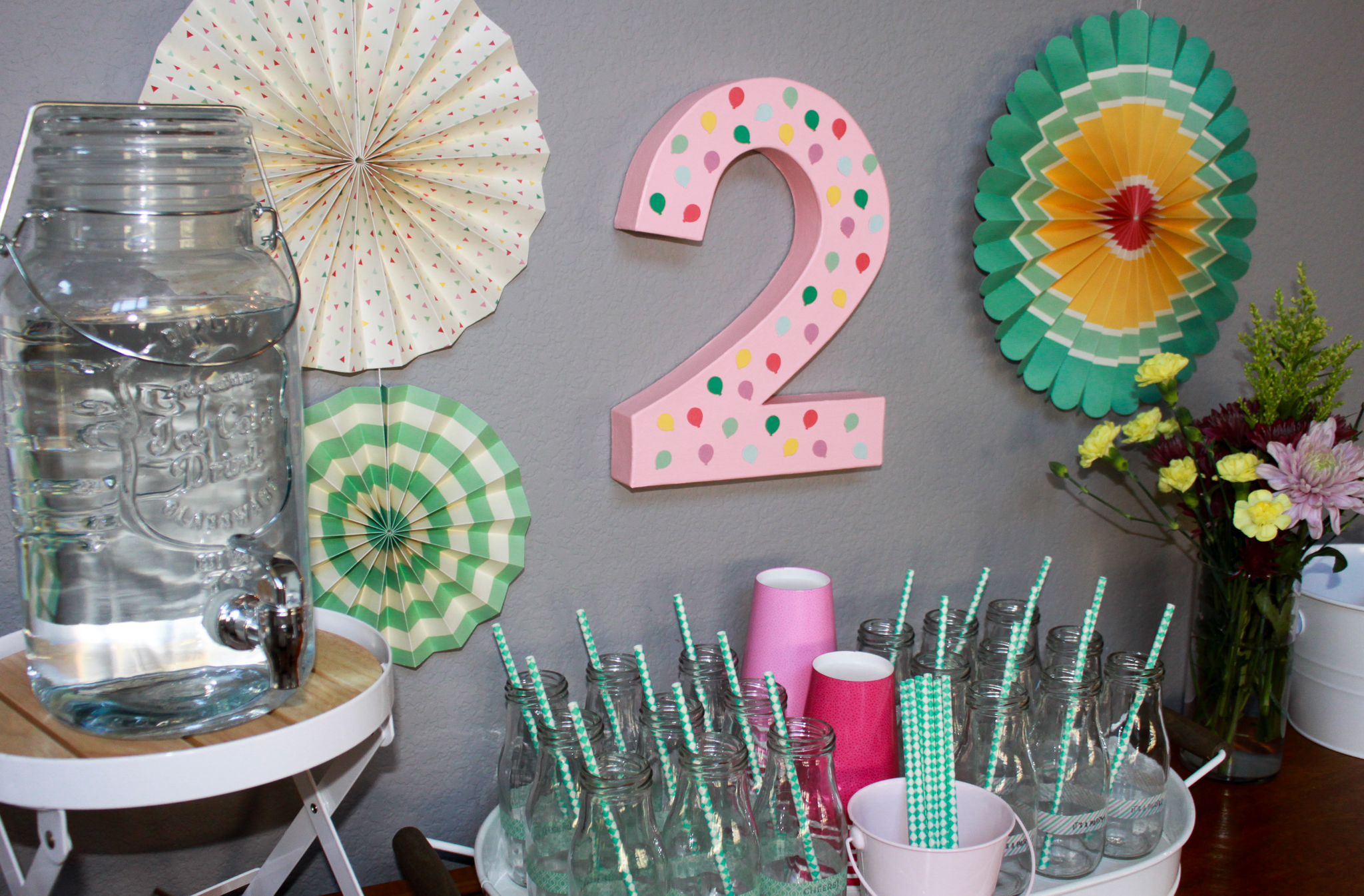 Pastel Balloon Party Decor - OhSoFancyParty.com